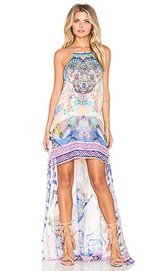 Camilla Short Sheer Overlay Dress in Gaudi Tribute