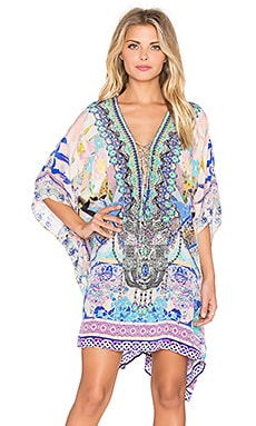 Camilla Short Lace Up Caftan in Gaudi Tribute