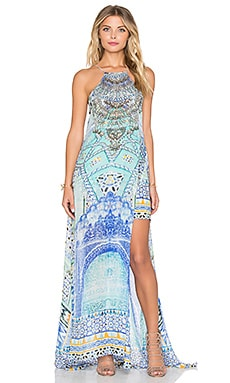 Camilla Sheer Overlay Maxi Dress in Sultans Gate