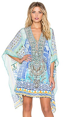 Camilla Short Lace Up Caftan in Sultans Gate