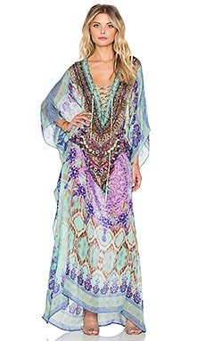 Camilla Long Lace Up Caftan in Sarayi