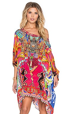 Camilla Round Neck Short Caftan in Freedom of Play