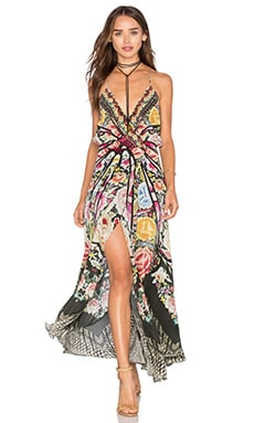 Camilla Strappy Wrap Dress in Flamenco Sweep