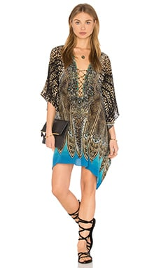 Short Lace Up Kaftan in Rapturous