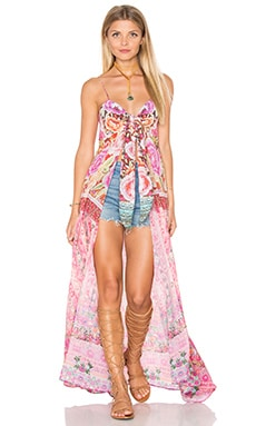 Camilla Bust Tie Long Dress in Belleza Flor