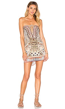 Camilla Short Lace Up Kaftan in Byzantine Realms