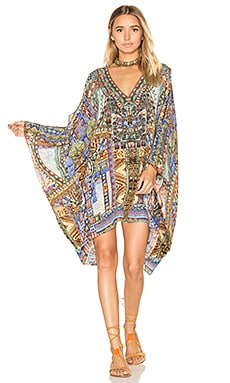 Split Shoulder Short Kaftan en Go Your Own Way