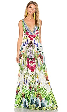 Tiered Gathered Dress en Exotic Hypnotic