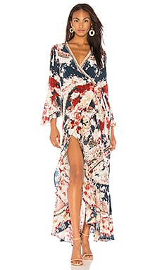 Camilla Short V Neck Drawstring Dress In Artesania Revolve