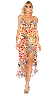 Long Wrap Dress Camilla $650