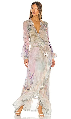 Blouson Sleeve Wrap Dress Camilla $899 NEW ARRIVAL