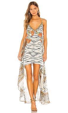 Flared Mini Sheer Overlay Dress Camilla $649 NEW ARRIVAL