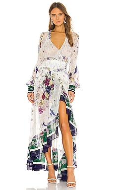 Blouson Sleeve Wrap Dress Camilla $584