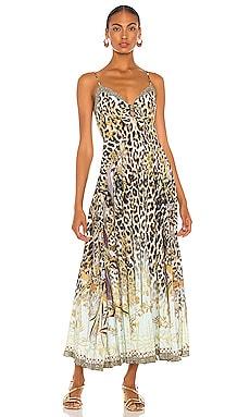 Tie Front Maxi Dress Camilla $649 NEW