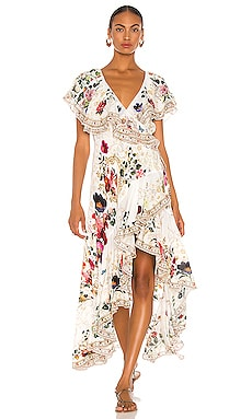 Frill Sleeve Maxi Dress Camilla $749 NEW