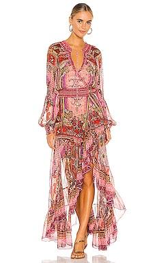 Blouson Sleeve Wrap Dress Camilla $899 NEW