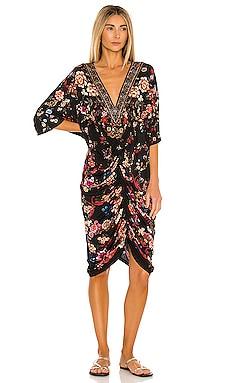 Short Draped Dress Camilla $499