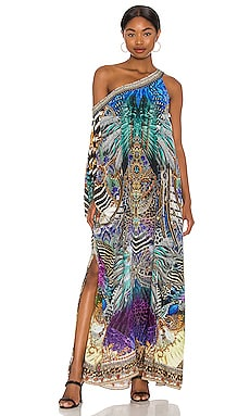 One Shoulder Caftan Camilla $649