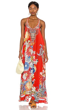 V Neck Racerback Dress Camilla $649 NEW