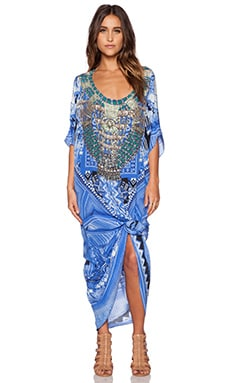 Camilla Round Neck Kaftan in A World Between the Warp