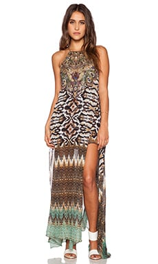 Camilla Sheer Overlay Maxi Dress in Eysai Stillness
