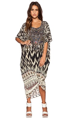 Camilla Round Neck Kaftan in Call of the Wild