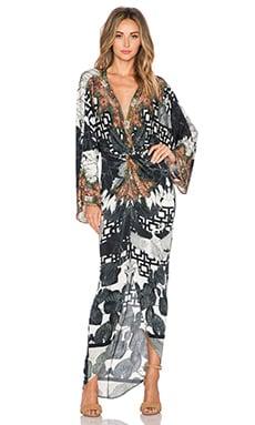 Camilla Twist Front Maxi Dress in Wanderlust