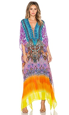 Camilla Lace Up Kaftan in Horizon Daze