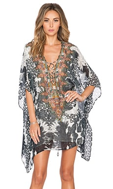 Camilla Short Lace Up Kaftan in Wanderlust