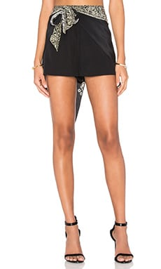 Camilla Wrap Tie Short in Black
