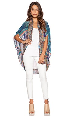 Camilla Open Front Cardigan in Braided Nation