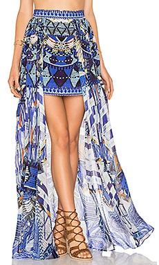 Camilla Short Full Overlay Skirt in Rhythm & Blues