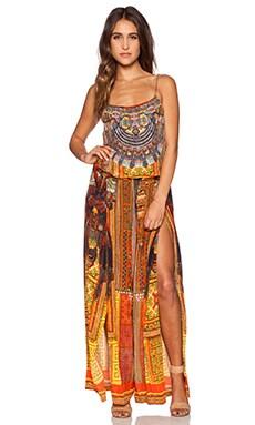 Camilla Shoestring Strap Jumpsuit in Ancient Magic Adorns