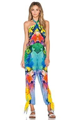 Camilla Tie Front Jumpsuit in The Rites of Tropicana
