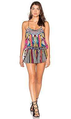 Camilla Shoestring Strap Playsuit in Woven Wonderland