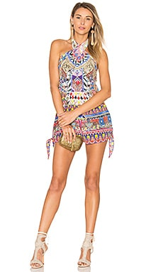 Tie Front and Sides Romper in Dream Weavers