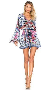 Wide Sleeve Playsuit in From Kalli With Love