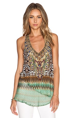 Camilla V Neck Double Layer Tank in Eysai Stillness