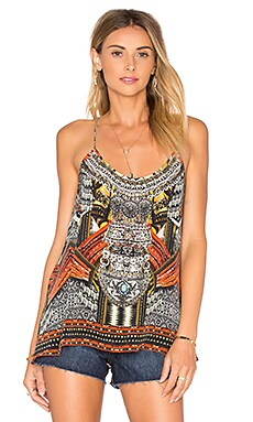 T-Back Shoestring Strap Top in Warrior