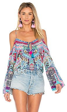 Drop Shoulder Top in Festival Friends