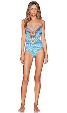 Camilla Reversible One Piece Swimsuit in Crossing Paths