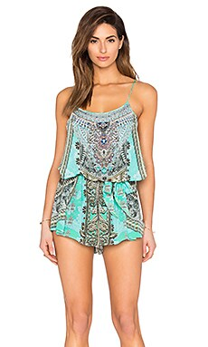 Camilla Shoestring Strap Playsuit in Traje De Luce