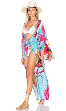 Camilla Kimono Sleeve Long Cover Up in The Free