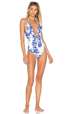 V Neck Ruffle One Piece
