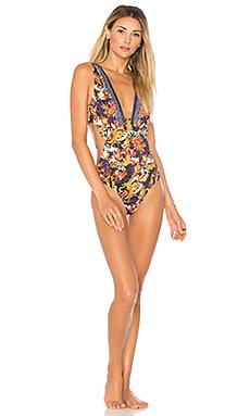 Plunging V Neck One Piece