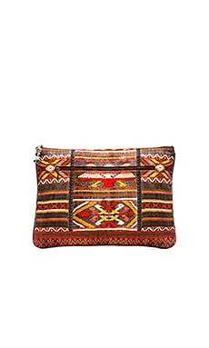 Camilla Large Canvas Clutch in Oaxaca Wings