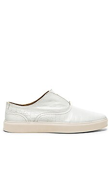 Caminando Laceless Trainers Croc Embossed in White