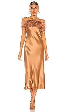 Satin Cerise Dress Cinq a Sept $595