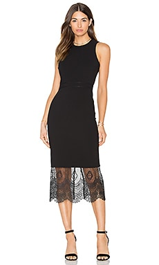 Cinq a Sept Hestia Dress in Black & Black