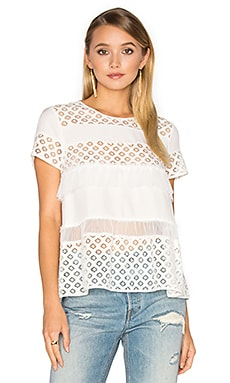 Delphine Top in Ivory & Ivory